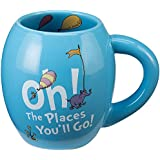 Dr Seuss Oh The Places You'll Go Ceramic 18-oz. Oval Mug- Graduation Gift