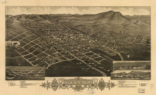 1883 bird's eye view of Helena, Montana