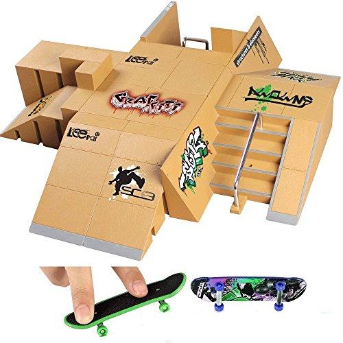 creationr-13pcs-skate-park-kit-ramp-parts-for-tech-deck-finger-skateboard-ultimate-sport-training-pr