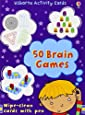 50 Brain Games (Usborne Activity Cards)
