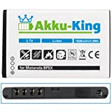 Akku-King Battery for Motorola Defy / Pro / MB520 Kobe / Bravo MB525 - replaces BF5X Li-Ion 1600mA