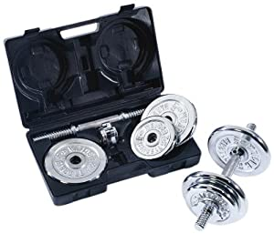 Weider 40 lb. Chrome Dumbbell Set with Plastic Carry Case at Sears.com