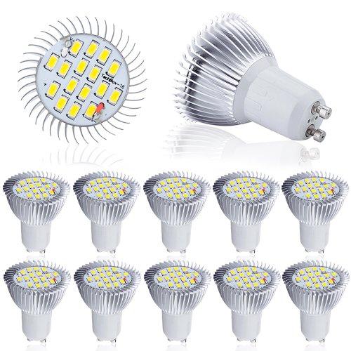 10 Pcs High Power 8W Gu10 Led Light 5630 Smd Ultra Bright Lamp Bulb Warm White 230V