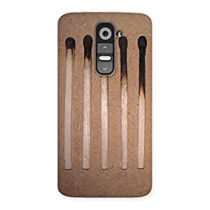 Premium Burned Matchsticks Multicolor Back Case Cover for LG G2
