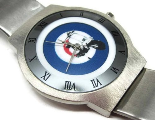 Fashion Men Watch PSS114 Ultra Slim Stainless Steel Wrist Watch NEW / LAMBRETTA VESPA MOD TARGET #2 (Target Watches For Men compare prices)