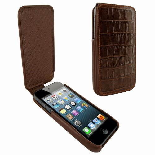 Great Price Apple iPhone 5 / 5S Piel Frama iMagnum Brown Crocodile Leather Cover
