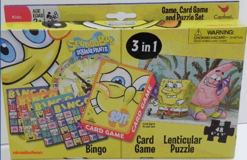 SpongeBob 3 in 1 Game Set - 1