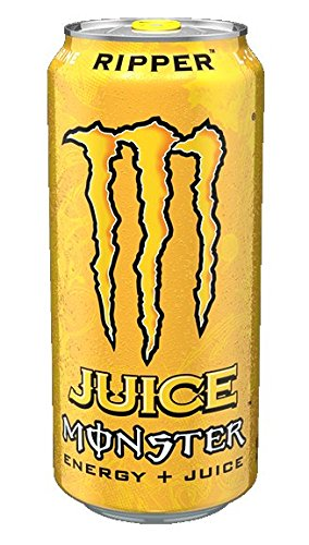 Juice Monster Energy Drink, Ripper, 16 Ounce (Pack Of 24)