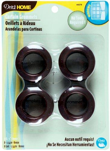 """Curtain Grommets 1"""" Inner Diameter 8/Pkg-Bronze"""