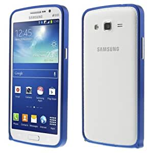 Aluminum Metal Bumper Case for Samsung Galaxy Grand 2 G7102 G7105 G7100- Dark Blue