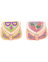 Aryan Exports Girls' Sling Bag (Multi-Colour, Set Of 2, Abc_307)
