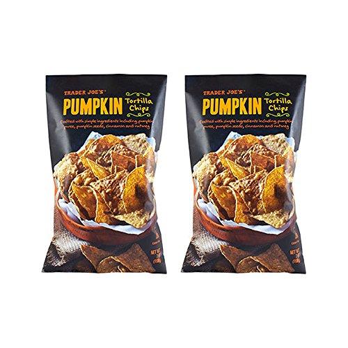 Trader Joe's Pumpkin Tortilla Chips, Gluten Free - 2 (7oz) Bags (Trader Joes Corn Salsa compare prices)