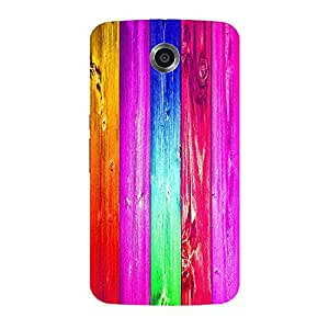 Back cover for Moto E (1st Gen) Colourful Wood