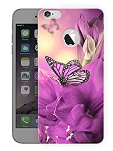 "Humor Gang Purple Pretty Butterfly Printed Designer Mobile Back Cover For ""Apple Iphone 6 - 6s"" (3D, Matte, Premium Quality Snap On Case)"