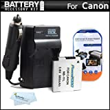 Battery And Charger Kit For Canon Powershot Elph 130 IS, ELPH 115 IS, A2600, A2500, Elph 110 HS, Elph 320 HS, ELPH 340 HS, A2300 IS, A2400 IS, A3400 IS, A4000 IS Digital Camera Includes Extended Replacement (900Mah) NB-11L Battery + Ac/Dc Travel Charger +