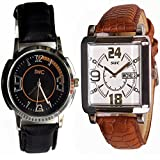 SWC-73 DESIGNER ANALOG COMBO OF 2 WATCHES FOR MEN & BOYS