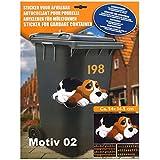 K7plus® Mülltonnenaufkleber Mülleimer Aufkleber Mülltonne Sticker - Schmuck Folie für