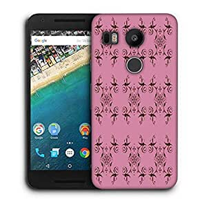 Snoogg Abstract Cream Pink Pattern Printed Protective Phone Back Case Cover For LG Google Nexus 5X