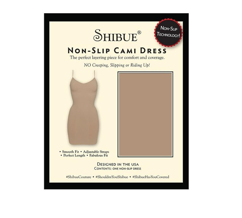 Shibue Couture Non-Slip Cami Dress - Formendes Unterkleid - Farbe Nude (Haut), Größe M