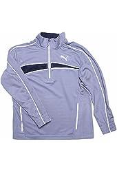 PUMA - Little Boys 2T-4T Grey Active Zip-up Sweatshirt