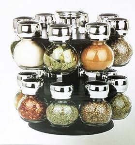 carrousel epice cuisine maison chef 16 pi ce flacon verre cuisine maison. Black Bedroom Furniture Sets. Home Design Ideas