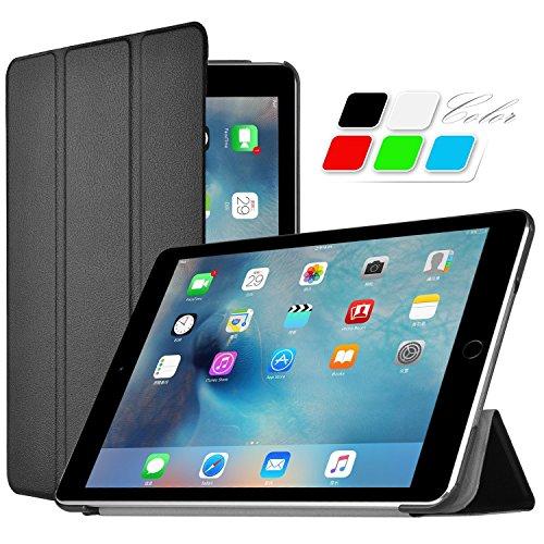 iPad Pro ケース 【KuGi】 Apple iPad Pro 専用 保護ケース スタンド機能付き 超薄型 軽量型 マグネット開閉式 iPad Pro 12.9インチ PUレザーケース (iPad Pro, ブラック)