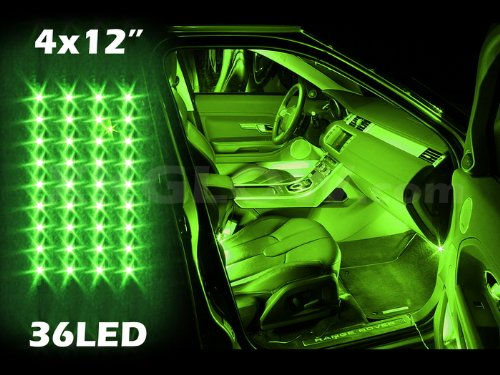 Green 4Pcs 36 Led Waterproof Three Mode Neon Accent Light Kit For Car Interior Trunk Truck Bed Bush Fender