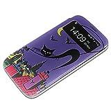 Cats 10064, Gattini, Texture S-View Flip PU Custodia Protectiva in Pelle Case Cover Nero con con Finestra Window...