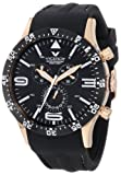 Viceroy Men's 432047-99 Fun Colors Rose Gold IP Chronograph Luminous Hands Black Soft Rubber Date Watch