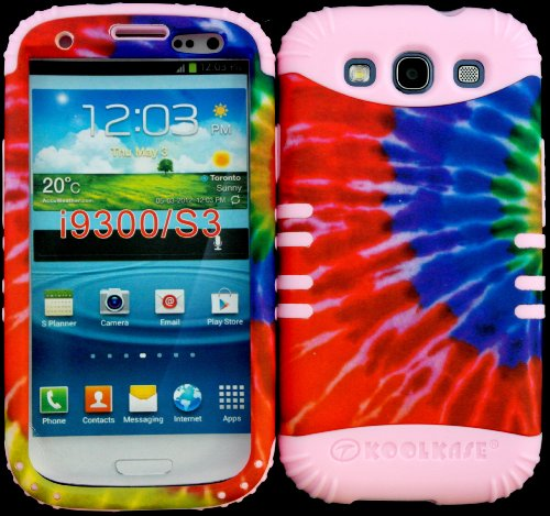 Hybrid Impact Rugged Cover Case Tie Dye Pattern Hard Plastic Snap On Baby Pink Skin For Samsung Galaxy Slll S3 Fits Sprint L710, Verizon I535, At&T I747, T-Mobile T999, Us Cellular R530, Metro Pcs And All front-1024064