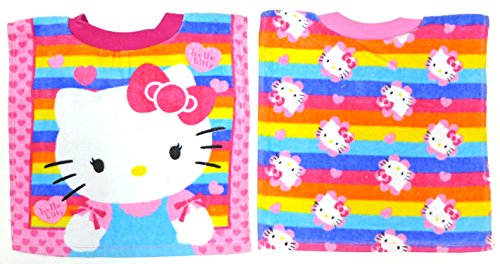 Neat Solutions Hello Kitty Fiber Reactive Toddler Pullover Bib, Stripe, 2 Pack