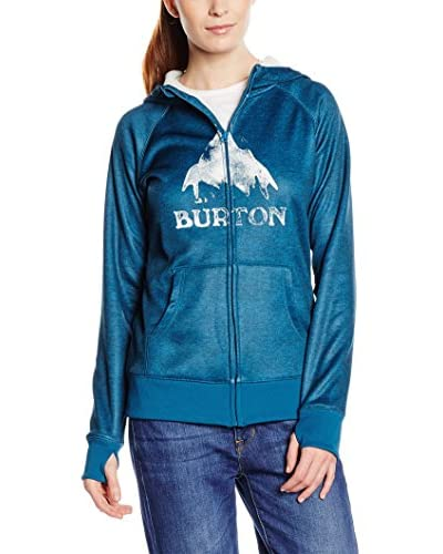 Burton WB Scoop HDD felpa da donna con cappuccio Turchese Celestial Heather M