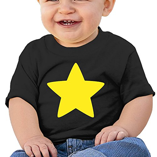 [Jirushi Infants &Toddlers Baby's Steven Cool Star Black T Shirts For 6-24 Months] (Hamburger Halloween Costume Baby)