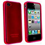 Red TPU Flexible Case For Apple Iphone 4 4G AT&T