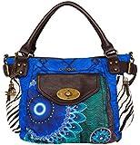 Desigual BOLS MCBEE FUN ZEBRA Blau 50X51P5-5036 Damen Handtasche Tasche Schultertasche Umhängetasche