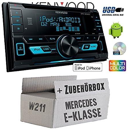 Mercedes classe E W211-Kenwood DPX-3000u-2DIN USB Kit de montage autoradio CD MP3-