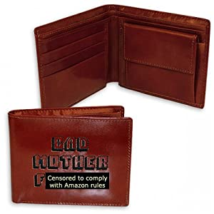 Pulp Fiction Merchandise - Embroidered Real Leather Bad Mother F**ker Wallet ...