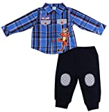 Disney Baby TIGGER Long Sleeve Button-Down Plaid Shirt & Pants Set