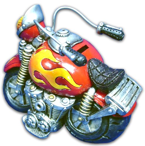 Bollo Regalo Red & Yellow Motorcycle Bank C068140R - 1