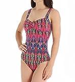 Tommy Bahama Women's Ikat Tie Dye Twist Front Cup Scoop Back One-Piece