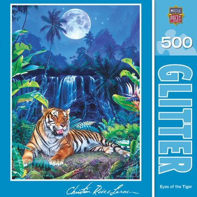MasterPieces / Christian Riese Lassen 'Glitter' 500-piece Puzzle, Eyes of the Tiger