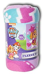 Nickelodeon Paw Patrol Girls Fleece Throw Blanket - 40in X 50in