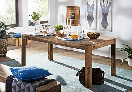 Table à manger 178x90cm - Bois massif de palissandre huilé - TORONTO #126