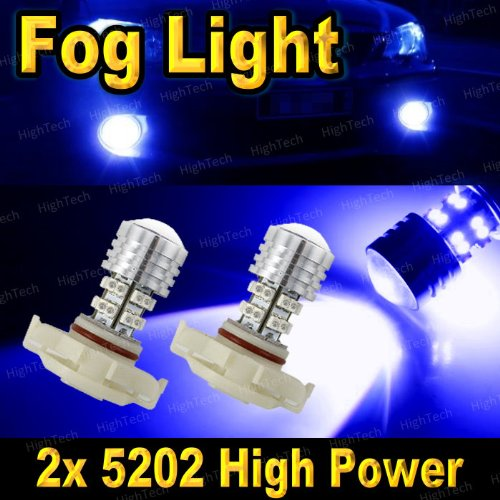 2 Pcs Ultra Blue H16 20-Smd High Power Led Headlight Bulbs For Driving Fog Light / Day Time Running Light Drl (Cross Reference: 2504 / 5200S / 5201 / 5202 / 9009 / Psx24W )