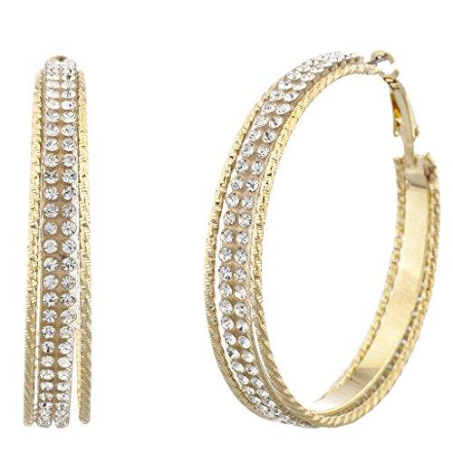 lux-accessoires-veritable-aux-nuances-dorees-et-double-rangee-decoupe-boucles-doreilles-creoles-avec