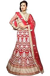 Manvaa Women Net Lehenga Choli(Red_ASKLY60B_Free Size)