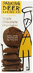 Dancing Deer Baking Co. Shortbread Cookies, Triple Chocolate Chip, 6-Ounce Box, (Pack of 6)