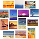 Abstract Artistic Paintings & Photographic Landscape Greeting Cards 14 Pack