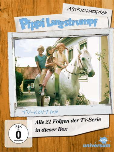 Astrid Lindgren: Pippi Langstrumpf - Alle 21 Folgen der TV-Serie in dieser Box (TV-Edition, 5 Discs)