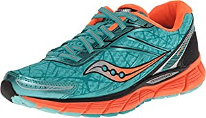 Saucony Women's Breakthru Running Shoe,Blue/Vizi Orange,8 M US